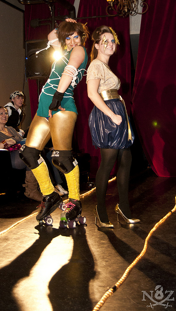 FASHION AND ROLLER DERBY 'CRASH' AT THE SYNDICATE